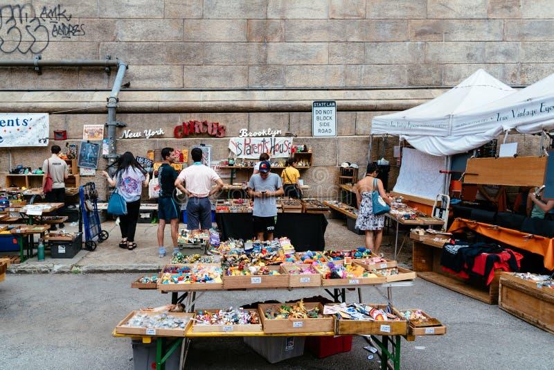 Brooklyn Flea Market in DUMBO in New York stock image