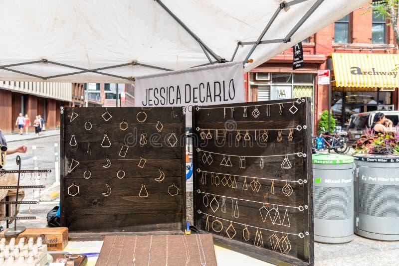 Brooklyn Flea Market in DUMBO in New York stock images
