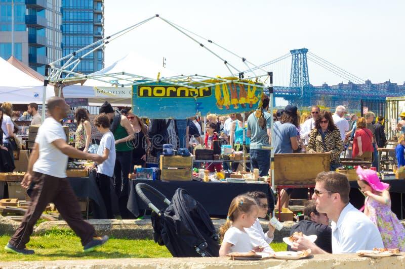 Brooklyn Flea Market. BROOKLYN, NY - APR 28: Scene at famous Brooklyn Flea Market in Williamsburg Brooklyn, NYC on Apr 28 2013. Brooklyn Flea runs several of the