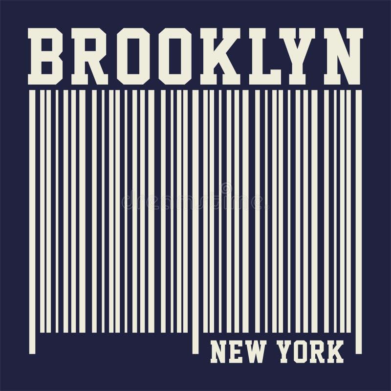 Brooklyn grafico New York royalty illustrazione gratis