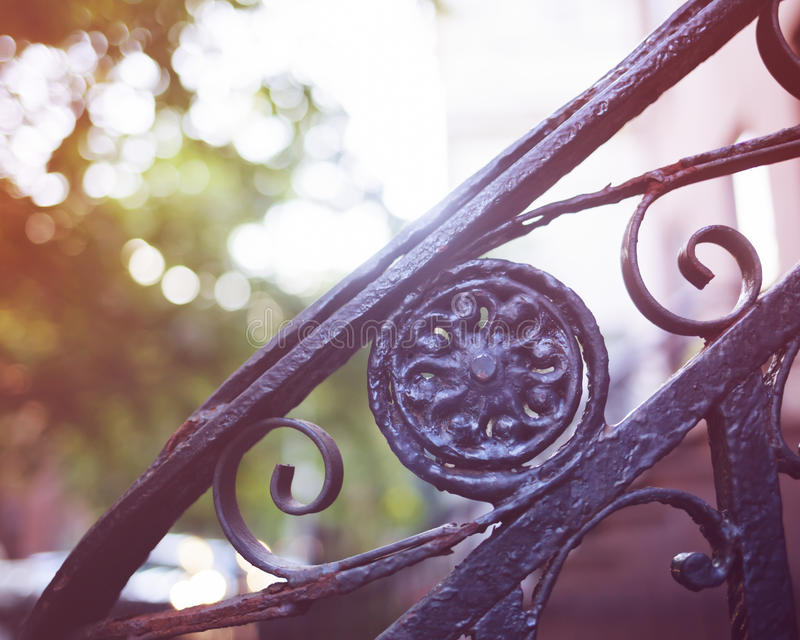 Brooklyn Heights fences royalty free stock photo