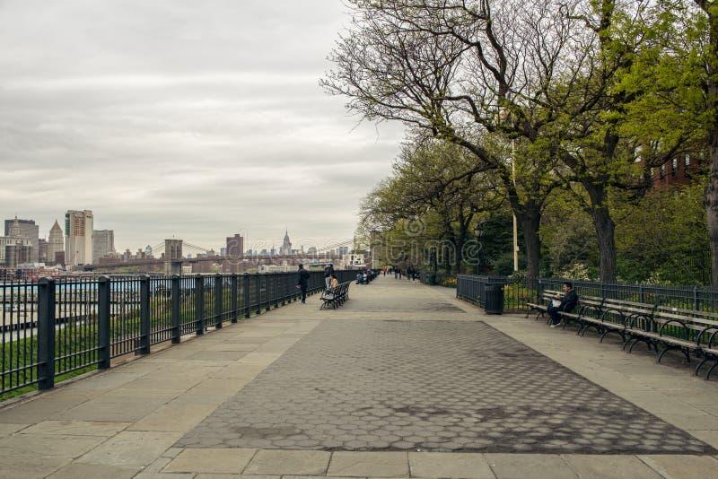 Brooklyn Heights promenad royaltyfri foto