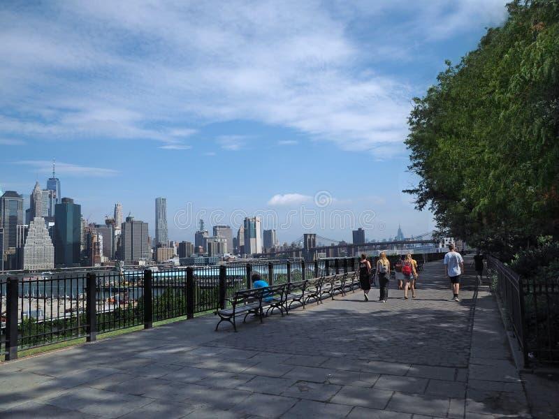 Brooklyn Heights promenad royaltyfria bilder