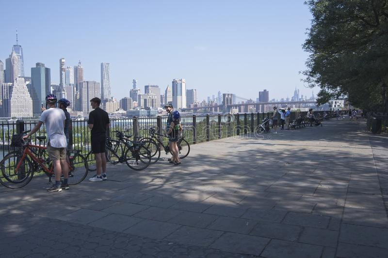 Brooklyn Heights Promenade NYC royalty free stock photo