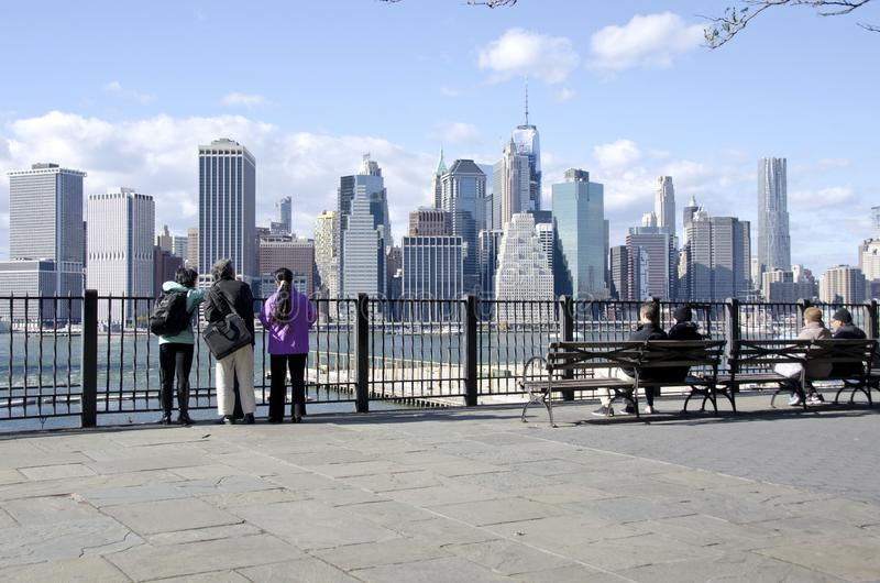 Brooklyn Heights Promenade stock images