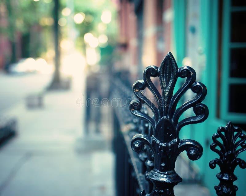 Brooklyn Heights staket royaltyfri foto