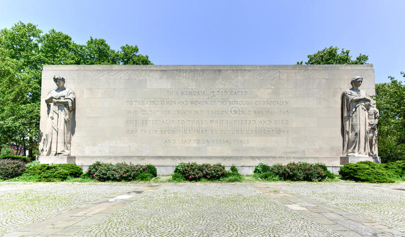 Brooklyn-Kriegs-Denkmal stockbilder