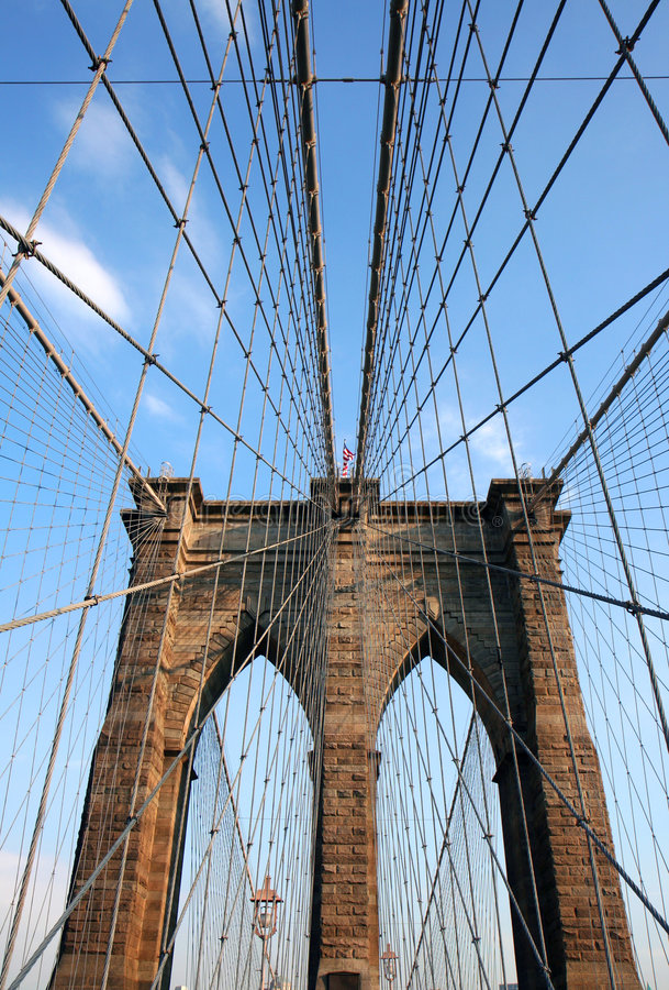 Brooklyn most szczegół zdjęcie royalty free