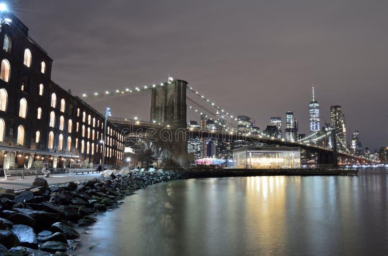 Бруклинский мост, Нью-Йорк стоковое изображение