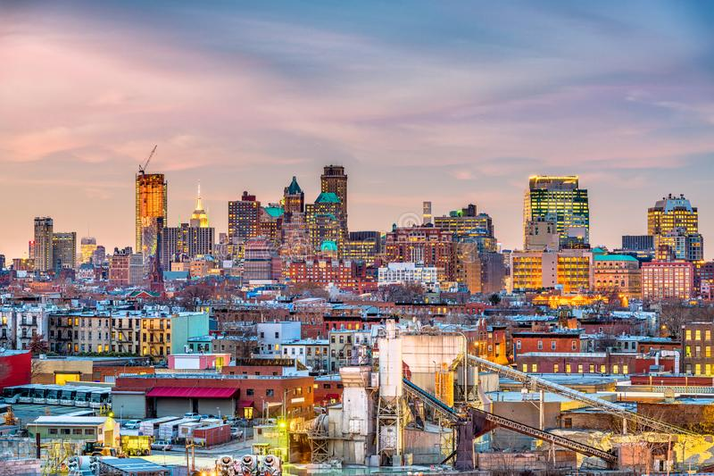 Brooklyn, Nowy Jork linia horyzontu zdjęcie royalty free