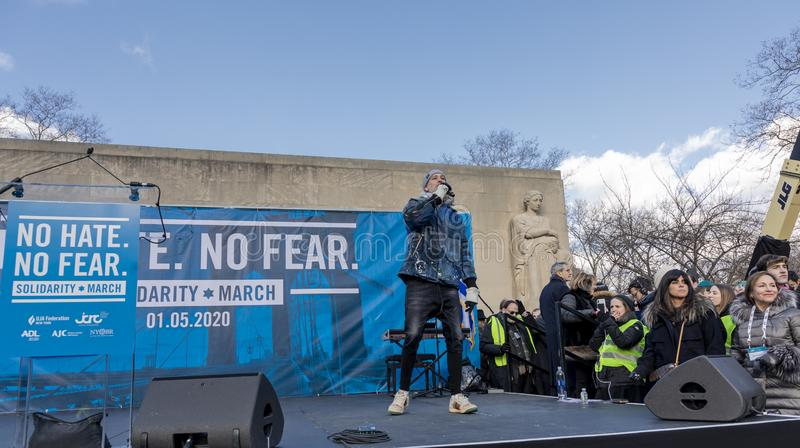 No Hate, No Fear Solidarity March royalty free stock photos
