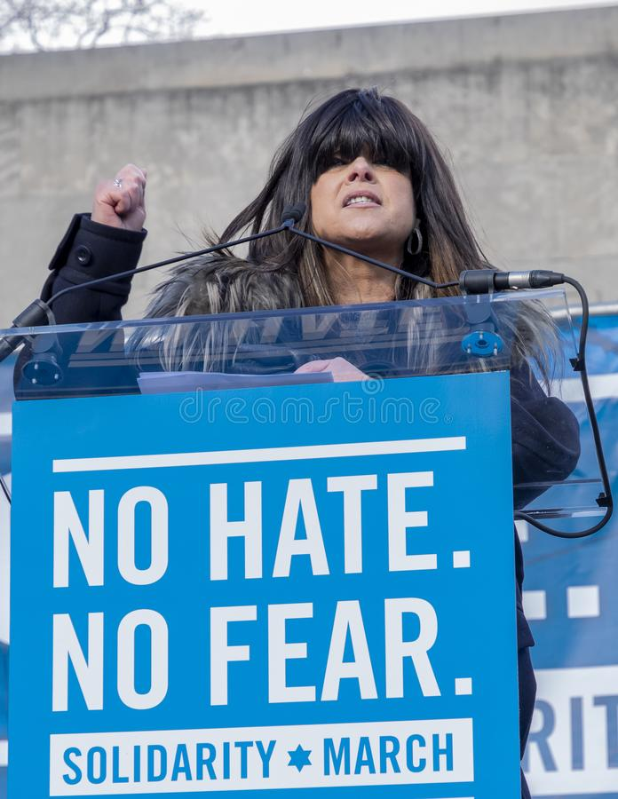 No Hate, No Fear Solidarity March royalty free stock photo