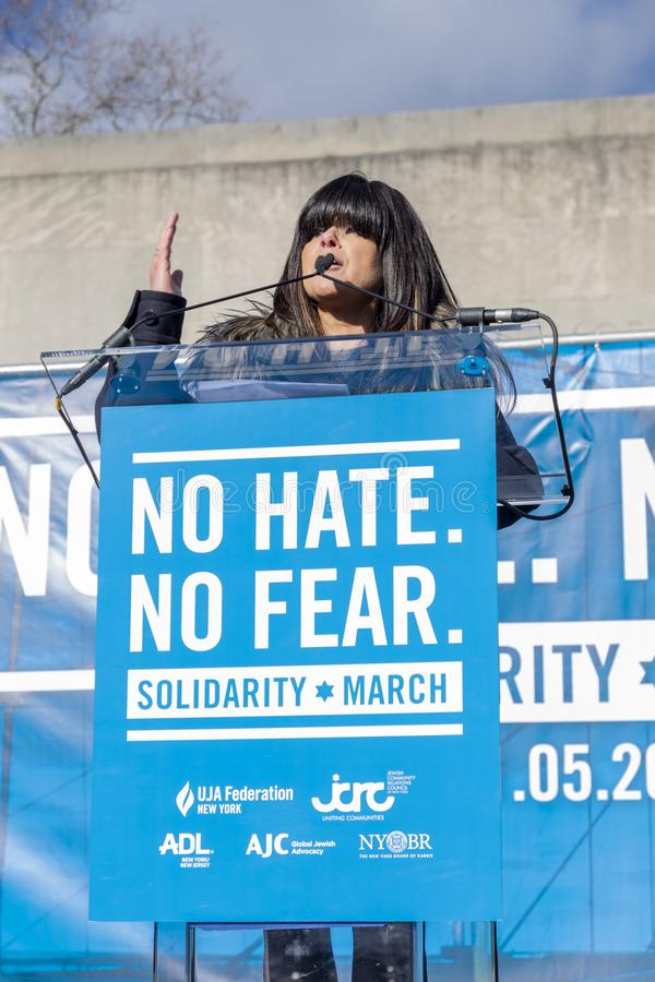 No Hate, No Fear Solidarity March stock images