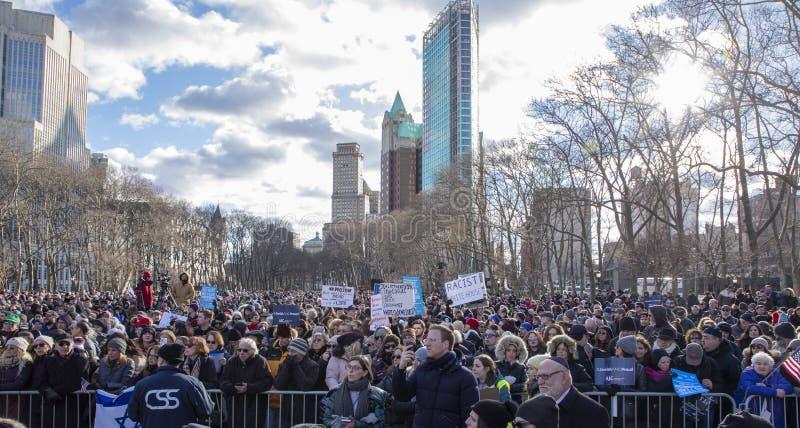No Hate, NoFear Solidarity March stock photo