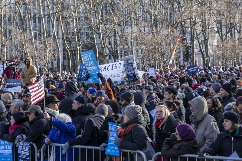No Hate, NoFear Solidarity March stock photos