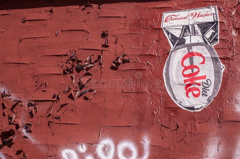 BROOKLYN, NYC, E.U., o 1º de outubro de 2013: Arte da rua em Brooklyn Drawi imagem de stock royalty free