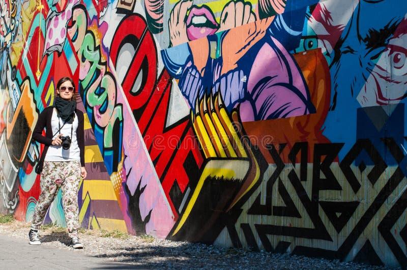BROOKLYN, NYC, USA, Październik 1 2013: Uliczna sztuka w Brooklyn. Hipst obrazy royalty free