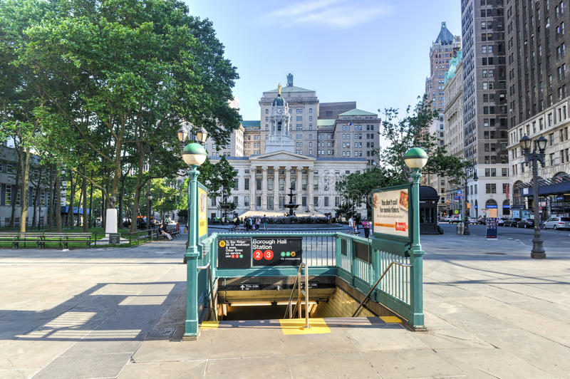 Brooklyn podgrodzia Hall stacja metru fotografia royalty free