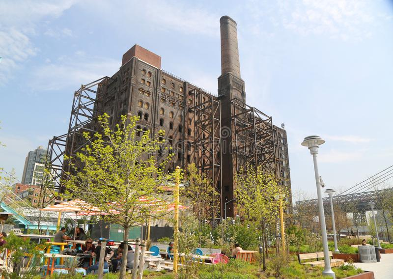 Brooklyn`s Domino Sugar Factory Redevelopment project. BROOKLYN, NEW YORK - MAY 2, 2019: Brooklyn`s Domino Sugar Factory Redevelopment project in Williamsburg stock image
