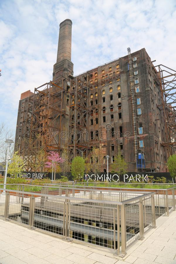 Brooklyn`s Domino Sugar Factory Redevelopment project. In Williamsburg, New York royalty free stock photos