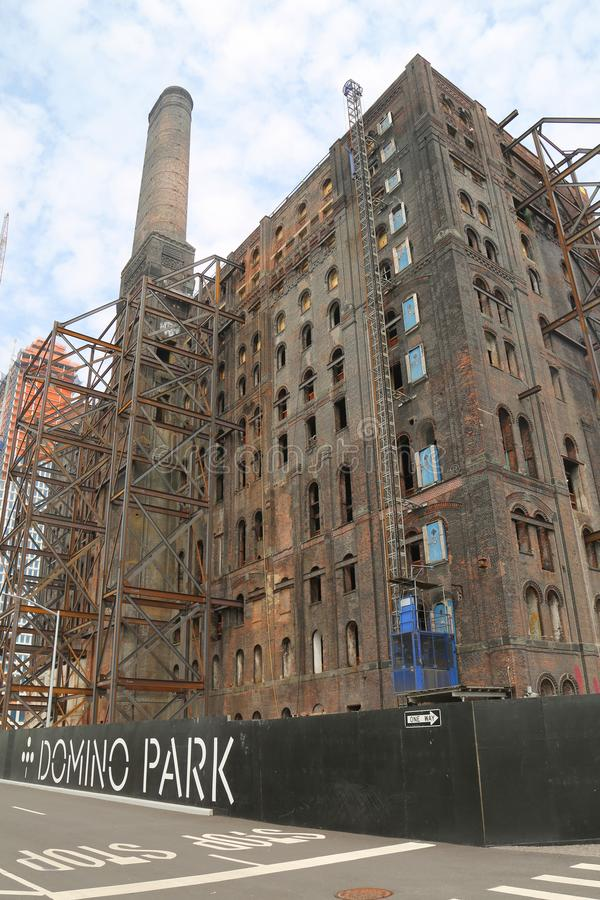 Brooklyn`s Domino Sugar Factory Redevelopment project. In Williamsburg, New York stock images
