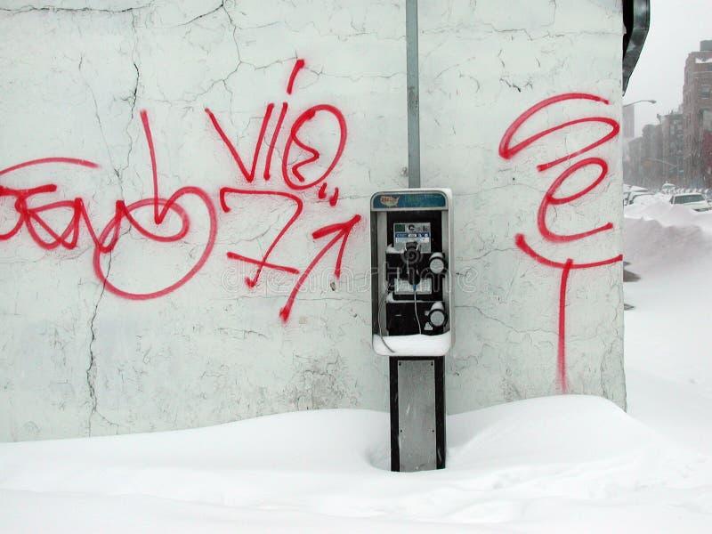 brooklyn snow royaltyfria bilder