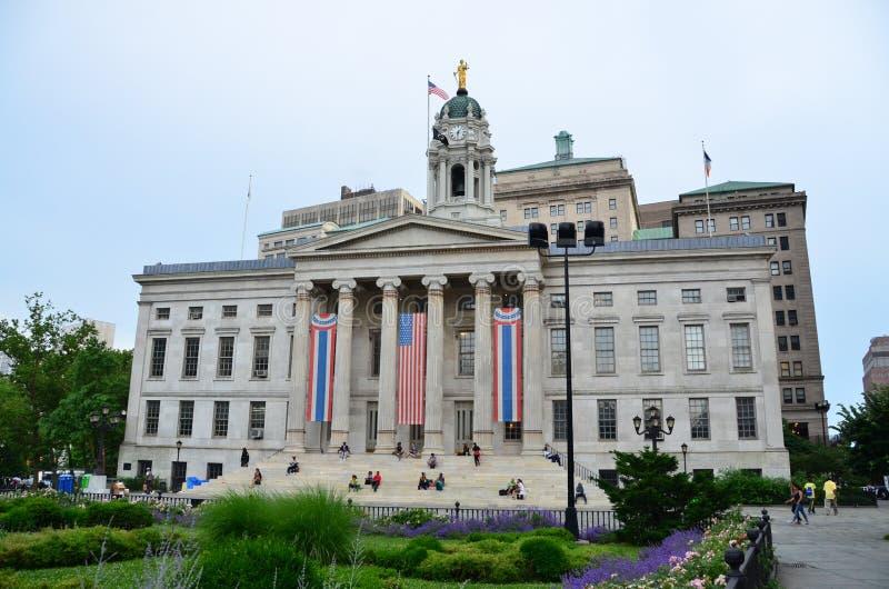 Brooklyn stad Hall royaltyfria bilder