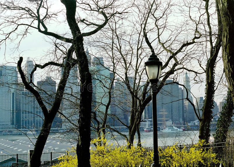 brooklyn stadshöjder New York arkivfoton