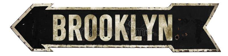 Brooklyn-Straßenschild-Schmutz-Pfeil stockbilder