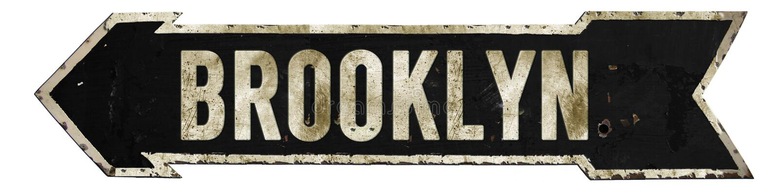 Brooklyn Street Sign Grunge Arrow stock images