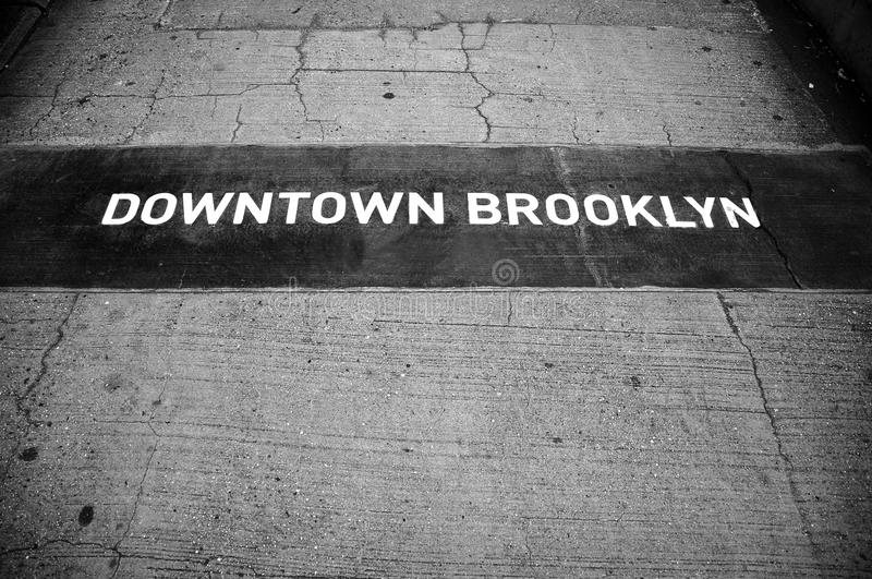 brooklyn tecken arkivfoton