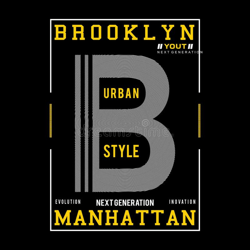 Brooklyn typography design tee for t shirt vector illustration
