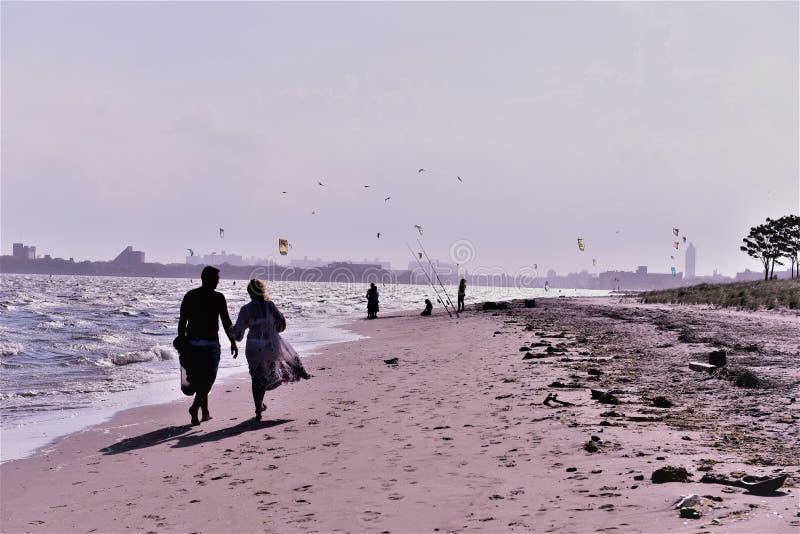 Brooklyn York pionowania nowej plaży spoczynkowy teren zdjęcia stock