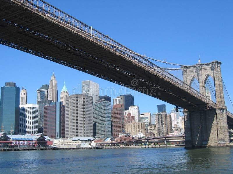 Brooklynbridge Νέα Υόρκη Στοκ Φωτογραφία