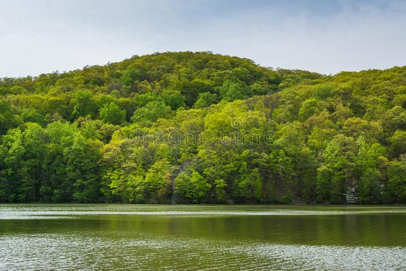 Brooks Lake, at Bear Mountain State Park, New York stock images