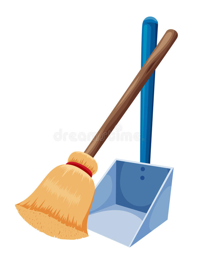 Free Broom And Dustpan Royalty Free Stock Photography - 26044097