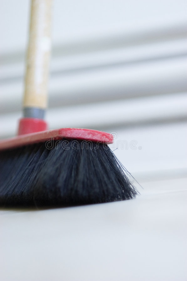 Broom Closeup stock image