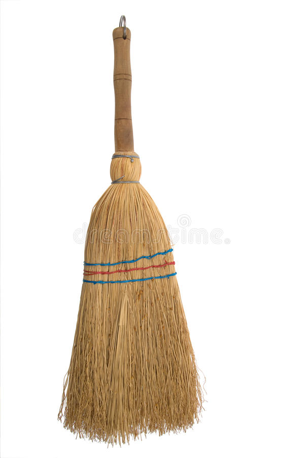 Broom isolated aganist white background royalty free stock photos