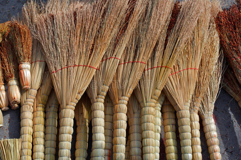 Broom. Market stalls in the broom royalty free stock image