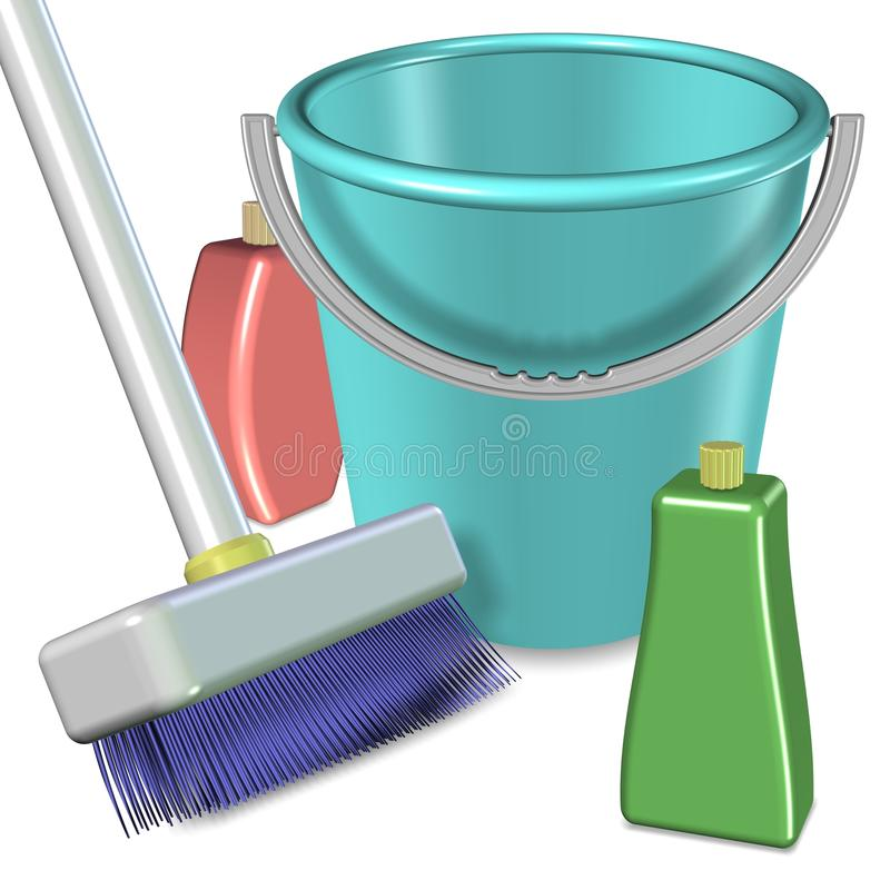 Cleaning equipment vector illustration
