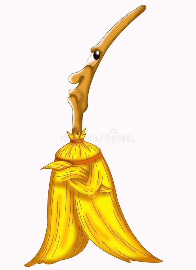 Download Broom sulky stock illustration. Illustration of greeting - 17193926