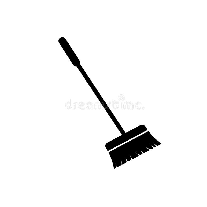 Free Broom Vector Icon Isolated On White Background Royalty Free Stock Photography - 187853677