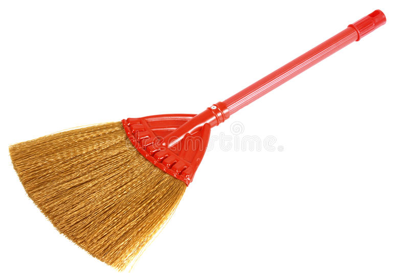 Broom. Broom weep made from plastic and bamboo royalty free stock photography