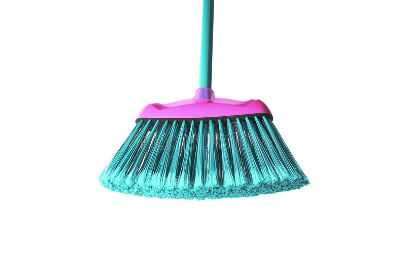 Broom. On white background, with path stock photography