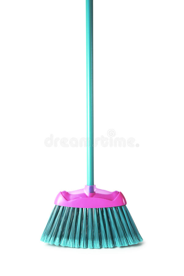 Broom. On white background, with path stock photos