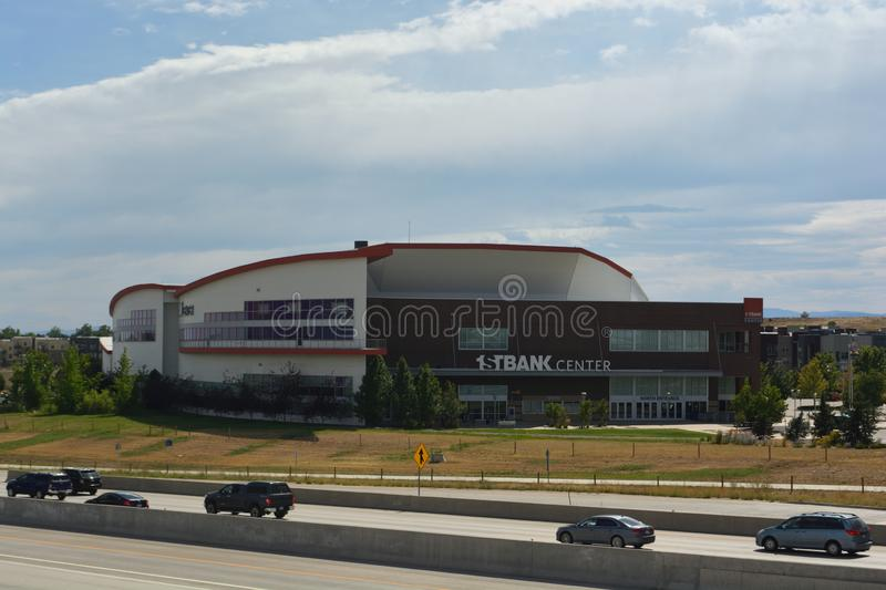 BROOMFIELD, CO, USA - August 24, 2019: First Bank Center is a multi-purpose arena located in Broomfield, Colorado with a capacity. Of 7,500 people royalty free stock images