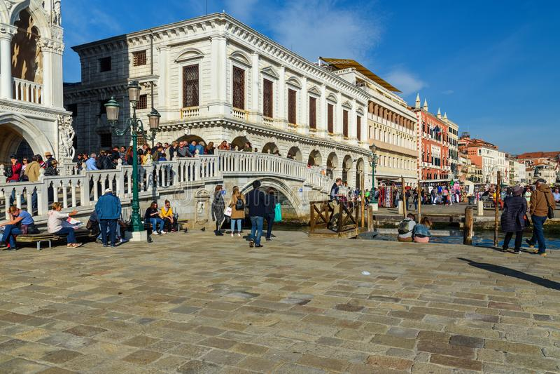 BroPonte della Paglia i Venedig italy arkivbilder