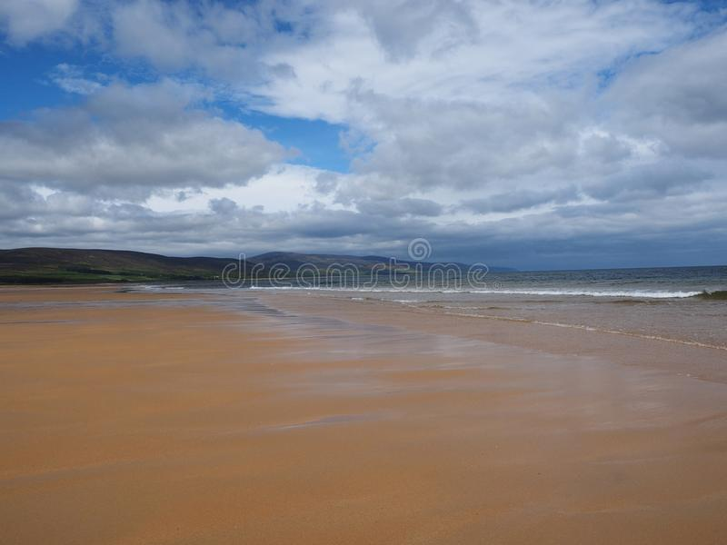 Brora beach Sutherland Scotland stock photography