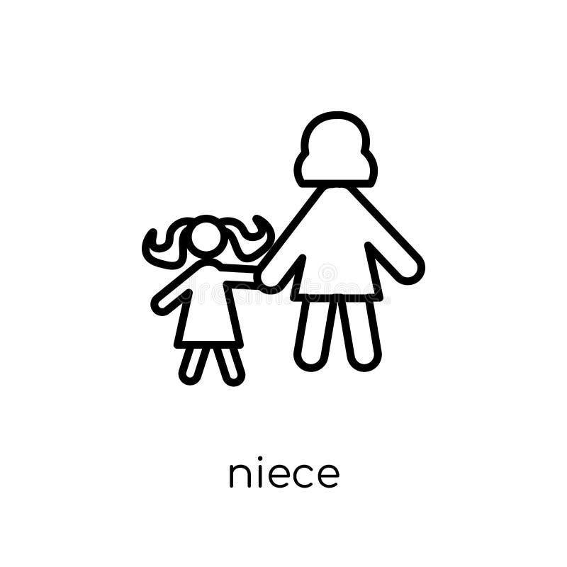 brorsdottersymbol Moderiktig modern plan linjär vektorbrorsdottersymbol på vit vektor illustrationer