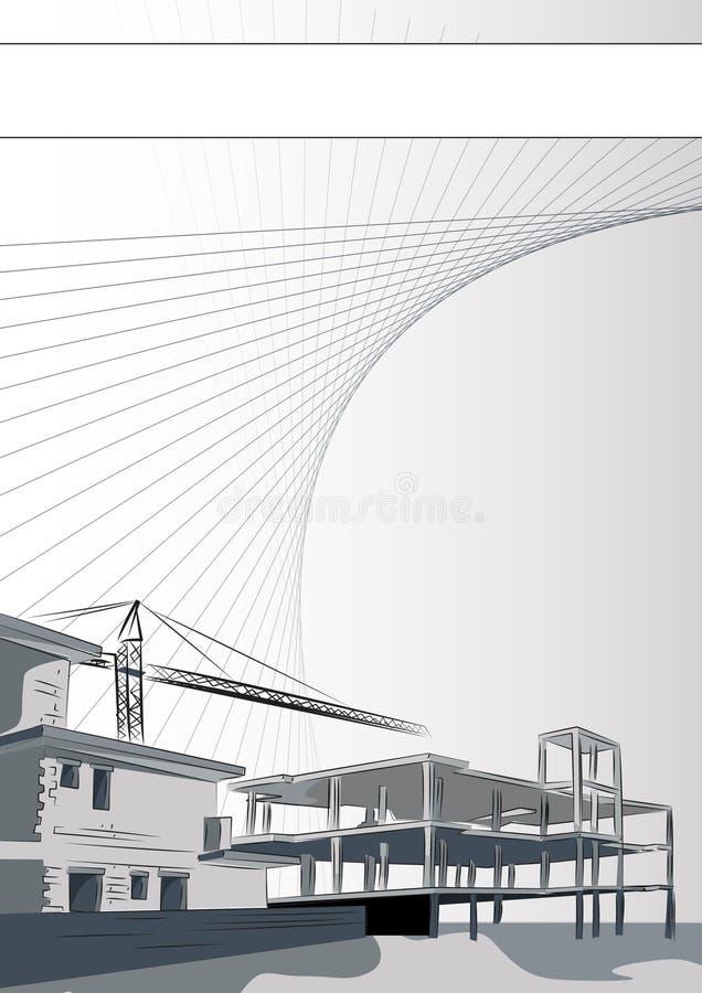 Broschüre: Architektur oder Bauunternehmen vektor abbildung